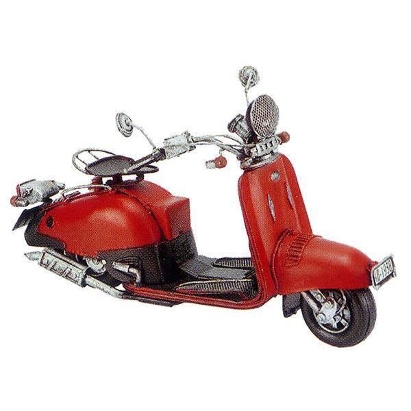 ブリキのおもちゃ レトロバイク・スクーターレッド