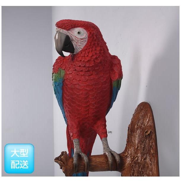 アニマルビッグフィギュアシリーズ【オウム(壁掛け用)レッド&ブルー 】(等身大フィギュア)