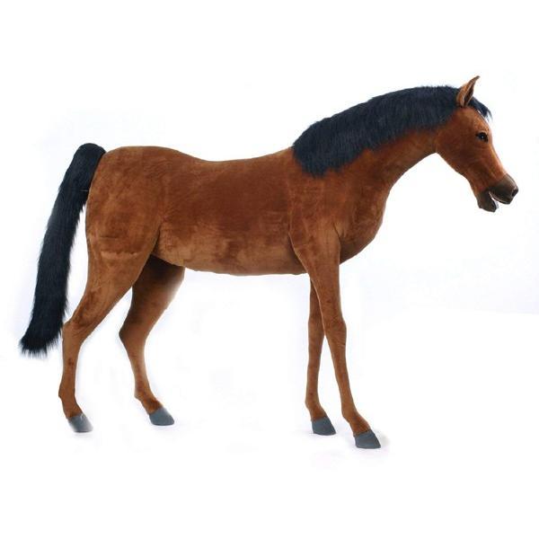 アニマルビッグフィギュアHANSAぬいぐるみ【サラブレッド 馬(高さ:135cm)】(等身大フィギュア)