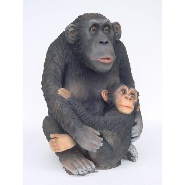 アニマル ビッグフィギュア【チンパンジーの親子】(等身大フィギュア)