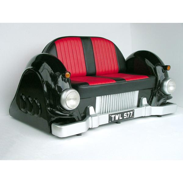 2人掛けCarソファ-Mercedes-(黒)ライト点灯 2人掛けCarソファ-Mercedes-(黒)ライト点灯