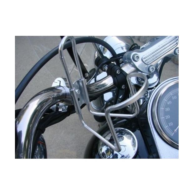 バイク 自転車 ドリンクホルダー 22mm ハンドル用 簡単取り付け【シルバー】 モンキー / マグナ SR TW エイプ 等|dream-japan|02