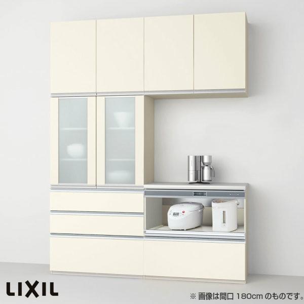 食器棚 食器棚 キッチン収納 リクシル/LIXIL アレスタ 収納ユニット 壁付型 カップボード+カウンタープラン スライドストッカー+家電収納(蒸気排出用) S3007 グループ2