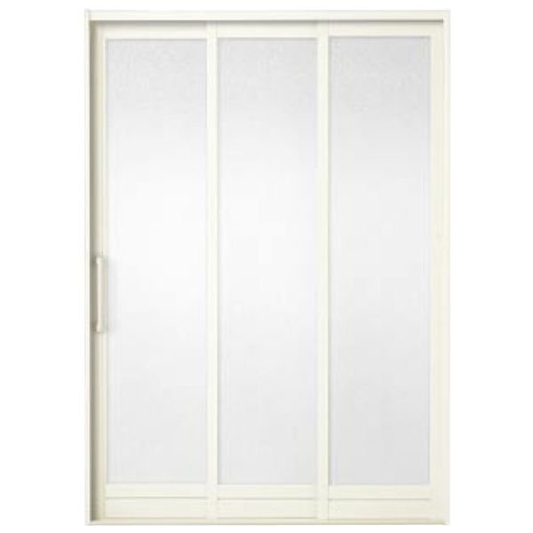 BF浴室3枚引戸(引き戸) 枠付 バーハンドルタイプ 樹脂パネル 12-20 W1212H2000 LIXIL/リクシル アルミサッシ