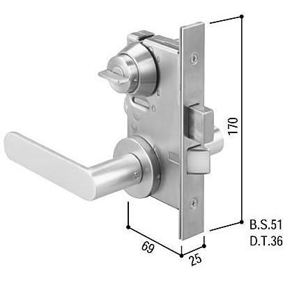 YKKAP レバーハンドル錠セット HH-J-0492U9 HH-J-0492U9 HH-J-0492U9 b25