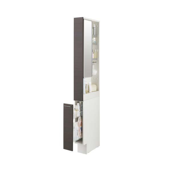 洗面化粧台 LIXIL/INAX L.C. エルシィ トールキャビネット 間口W150mm 鏡扉タイプ LCYS-155ML(R)-A 洗面台 リフォーム DIY