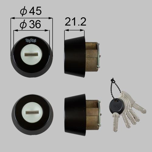 LIXIL/TOSTEM製玄関ドア用ドア錠セット(MIWA DNシリンダー) Z-1A3-DHYD アルミサッシ