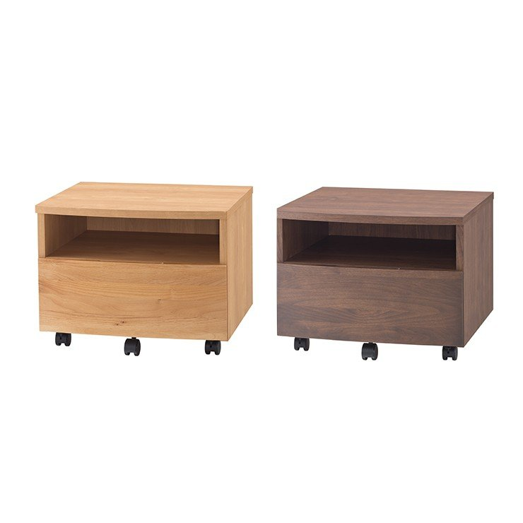 プリンターワゴン 完成品 木製 アルダー 国産品 日本製 ナチュラル ブラウン 堀田木工所