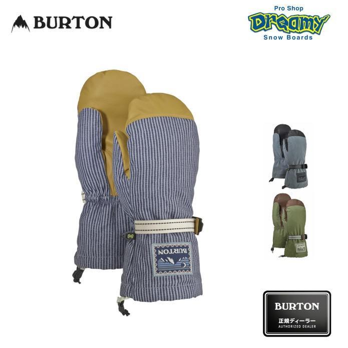 BURTON バートン HI-FIVE MITTEN 103091 Gnar Guardレザー スノーミトン スノーグローブ リストリーシュ メンズ WINTER 2019モデル 正規品