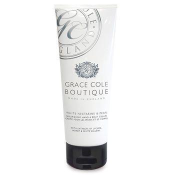 ハンド&ボディクリーム ホワイトネクタリン&ペア 75ml GRACE COLE ...