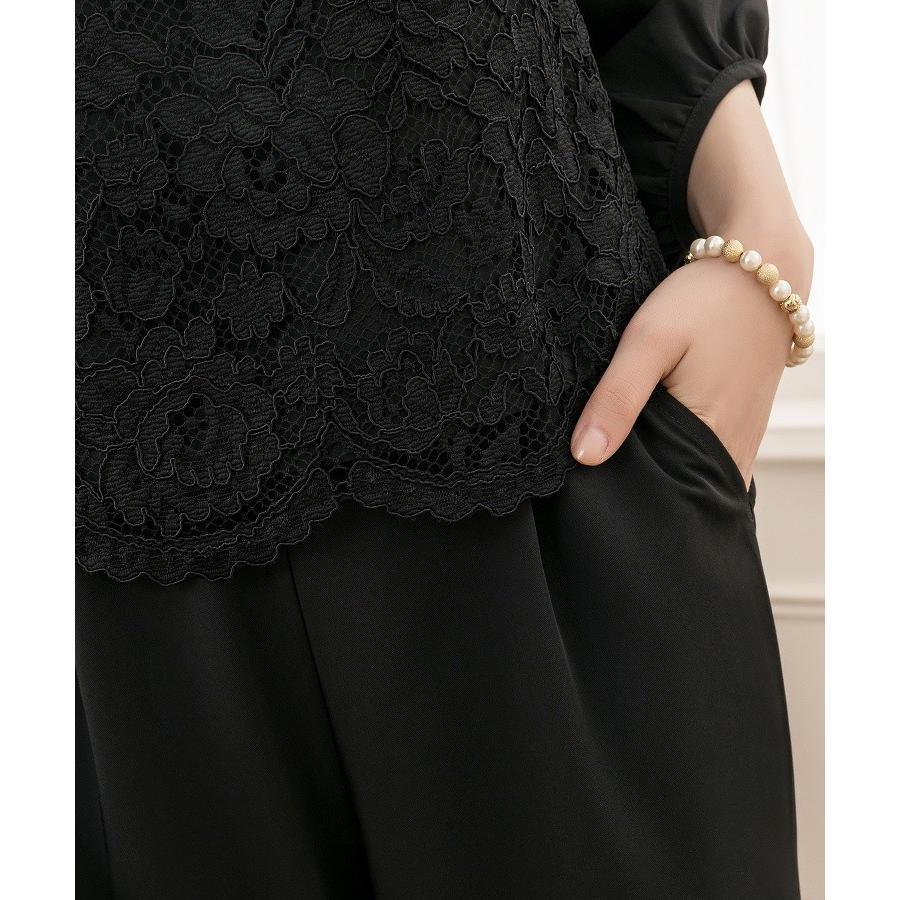 パンツドレス 結婚式 袖あり 大きいサイズ レース レディース ワイド パーティー ドレス セットアップ 卒業式 卒園式|dressstar|15