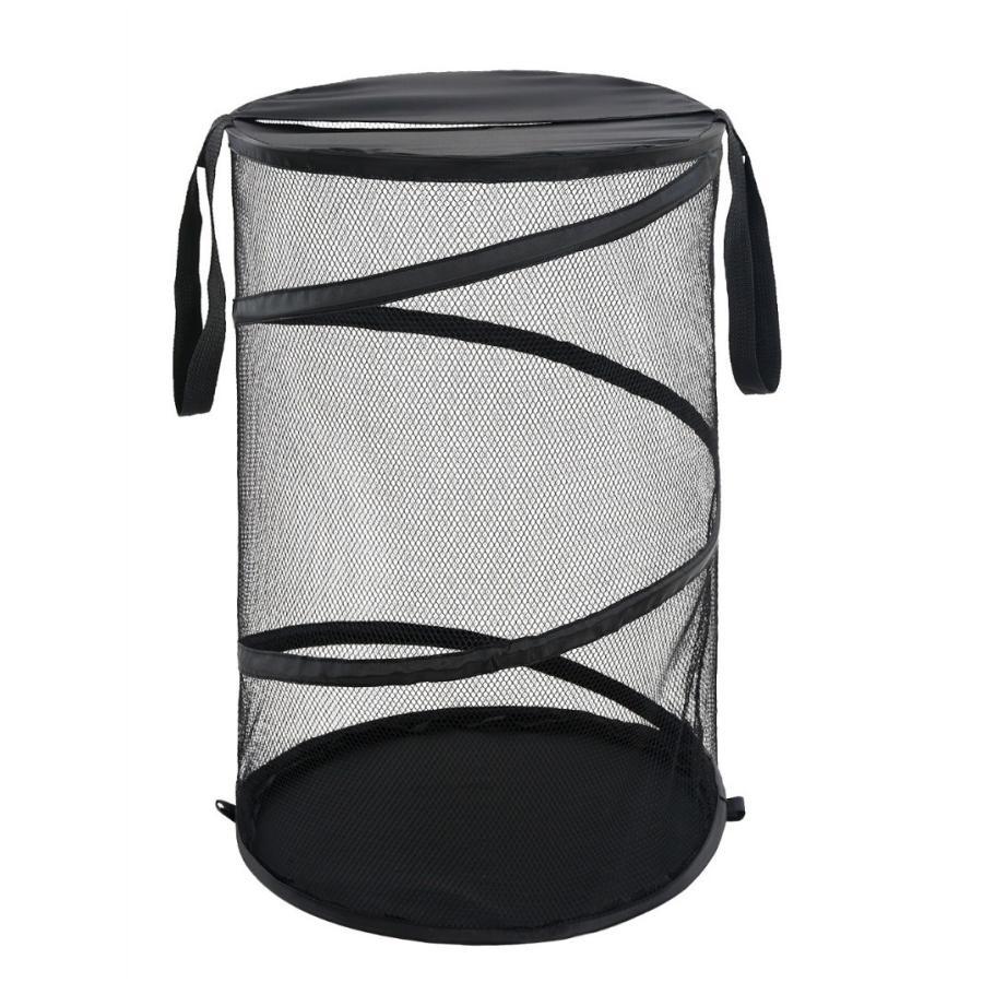 開催中 Dresstell ランドリーバスケット 洗濯かご 折りたたみ ランドリー収納 小物収納 小物入れ ブラック [並行輸入品] 収納ボックス ストレージボックス