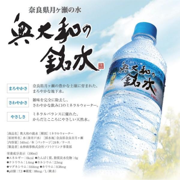 永伸商事 奥大和の銘水 PET 540m×24本|drink-next|03