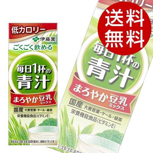 伊藤園 毎日一杯の青汁 まろやか豆乳ミックス 200ml×48本|drinkmarchais