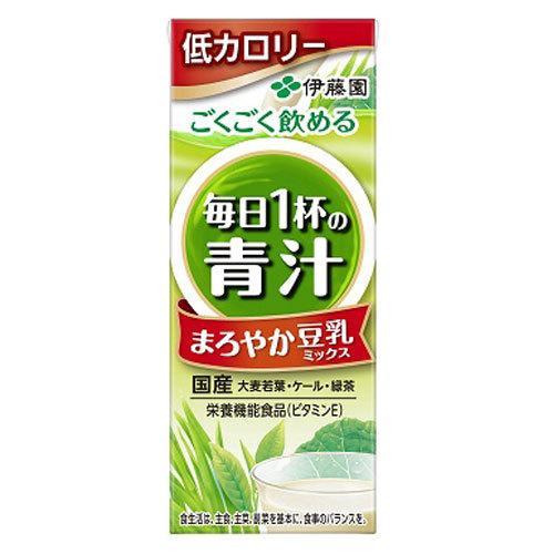伊藤園 毎日一杯の青汁 まろやか豆乳ミックス 200ml×48本|drinkmarchais|02