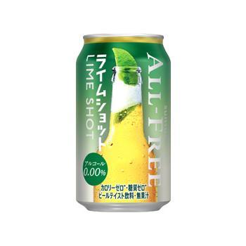 オールフリー ノンアルコール飲料 ライム ショット 350ml缶 1ケース24 ...
