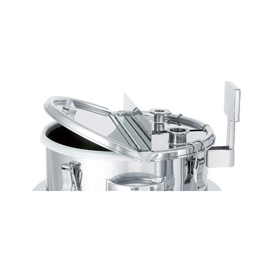 日東金属工業1-3668-04ステンレス撹拌容器(撹拌機取り付け座付、鏡面仕上げ)80L