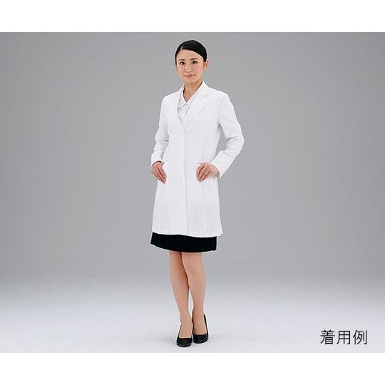 ワールド3-5116-04ドクターコート(播州織素材使用)女性用L【枚】(as1-3-5116-04)
