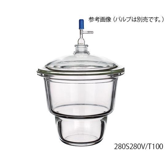 3-6011-25上口デシケータ280S280V/T300【式】(as1-3-6011-25)