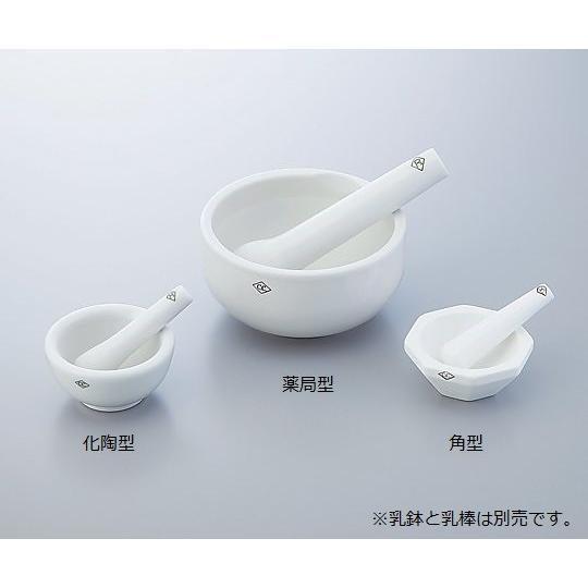 ニッカトー5-4074-02アルミナ角型乳鉢120×φ91mm【個】(as1-5-4074-02)