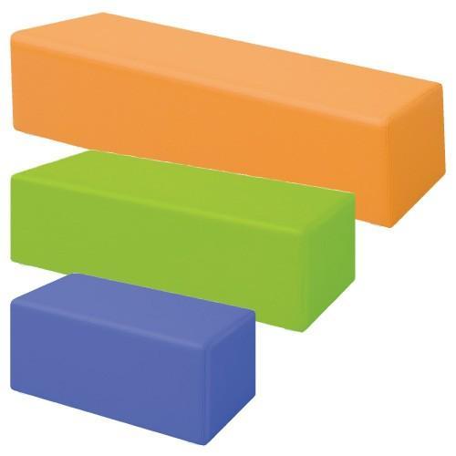 ロビーチェア(キュービック) TB-1148-04(180X45X45ロビーチェア(キュービック)ライトグリーン(24-3014-02-05)【1台単位】 TB-1148-04(180X45X45ロビーチェア(キュービック)ライトグリーン(24-3014-02-05)【1台単位】