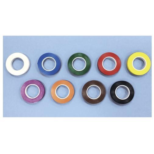 器材識別用カラーテープ T-125(3.2MMX7.61M) キザイシキベツヨウカラーテープ 赤(24-3403-00-04)【4個単位】