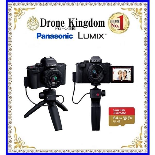 底値 SD64GB付きでこの値段 在庫処分 ミラーレス一眼カメラ LUMIX 標準ズームレンズキット G100 トライポッドグリップ付属 休日 DC-G100V-K