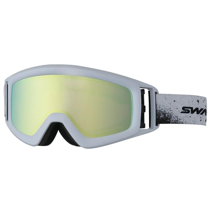 2017年モデル SWANS スワンズ メガネ・ヘルメット対応 スノーゴーグル HELI-MPDH MAW マットホワイト/パステルイエローミラー×偏光ピンク