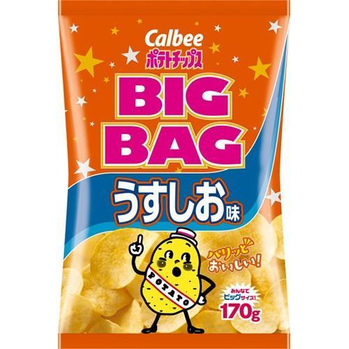 【送料無料】カルビー株式会社 ポテトチップス BIGBAG うすしお味(170g)×12個セット drugpure