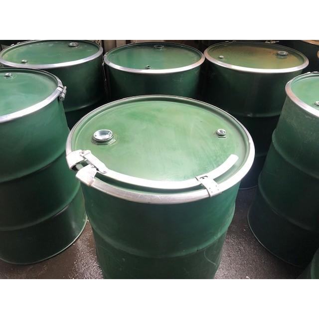 オープンドラム缶 再生品 (内レバーバンド)内鉄 改造缶 大小栓付き蓋 外面補修仕上げ 鋼製 200L
