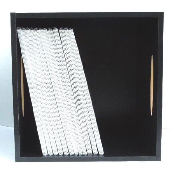 レコードラック / 1マスタイプ / 取っ手付きレコードラック(LP約80枚収納) / BLACK (黒) / ディスクユニオン DISK UNION / レコード収納
