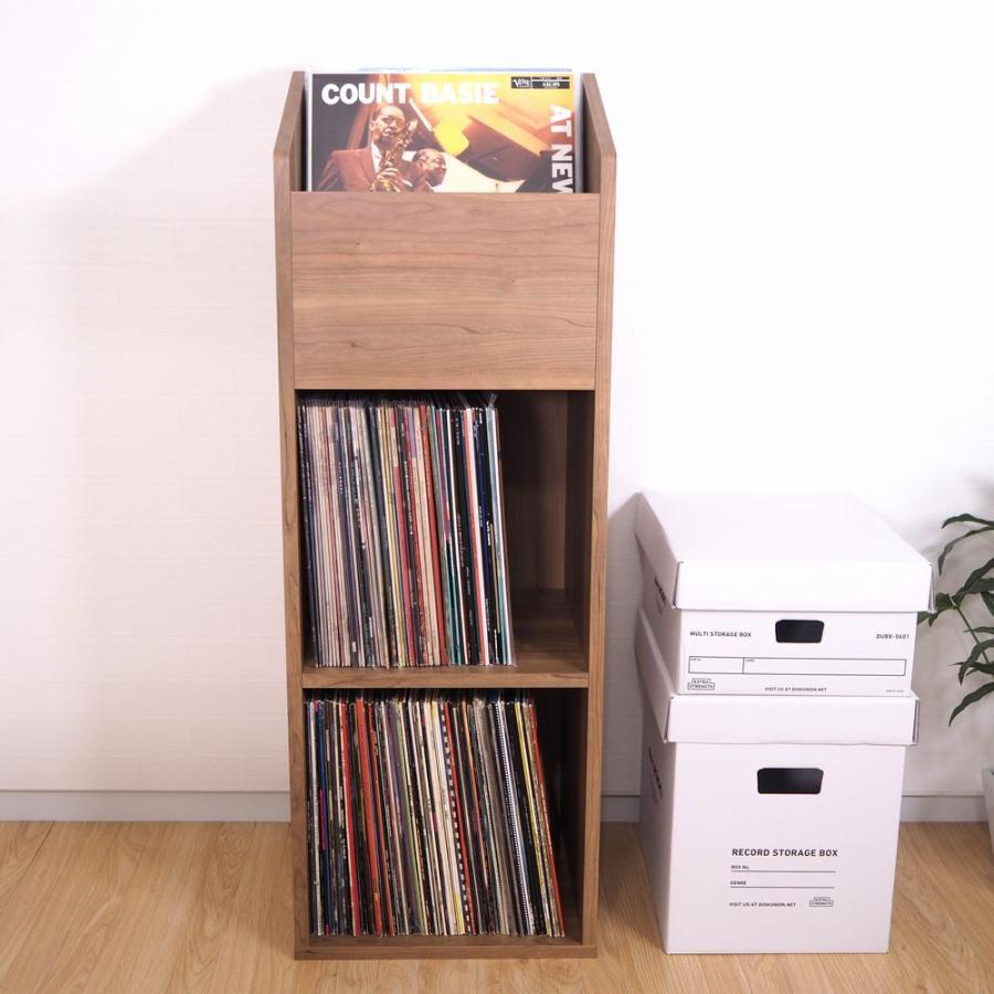 レコードラック / 2マス+1BOX / DULPA300(LP約240枚収納) / ディスクユニオン DISK UNION / レコード収納