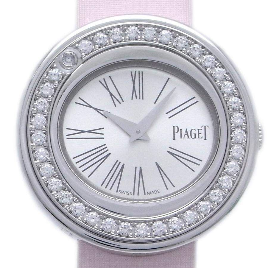 割引クーポン PIAGET ピアジェ ポセション ベゼル ダイヤモンド P10866 腕時計 750ホワイトゴールド シルバー 文字盤 レディース(銀座店), RISING BED-ライジングベッド- 7215764e