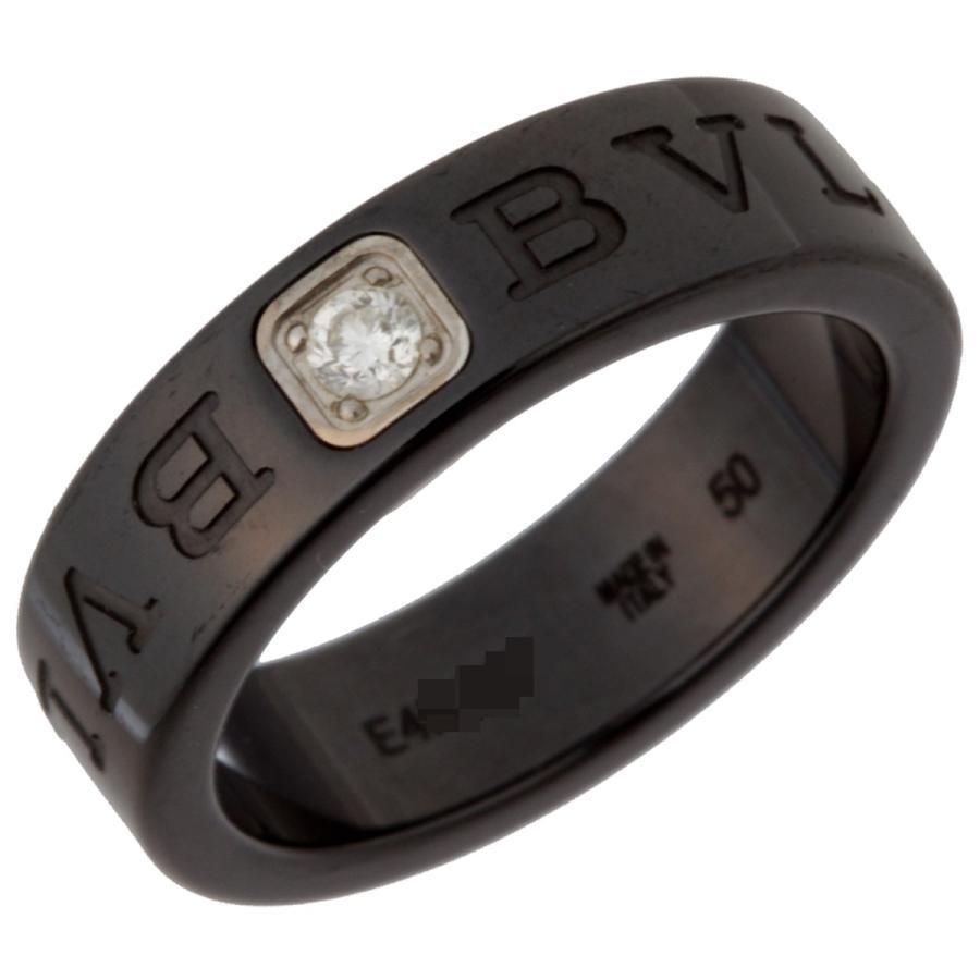 【あすつく】 ブルガリ ダブル ロゴ 1P ダイヤモンド 1P リング・指輪 セラミック 10号 BVLGARI ダイヤモンド 10号 (飯能本店)/DH49202, インテリアショップarne[アーネ]:cba88d76 --- airmodconsu.dominiotemporario.com