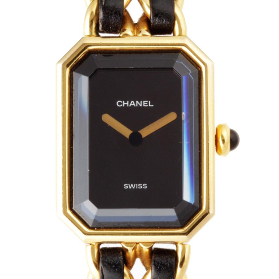 【再入荷!】 CHANEL シャネル プルミエール #L サイズ 腕時計 GP ブラック 文字盤 レディース  (銀座店)/DH49212, ムッシュ c322e7ab