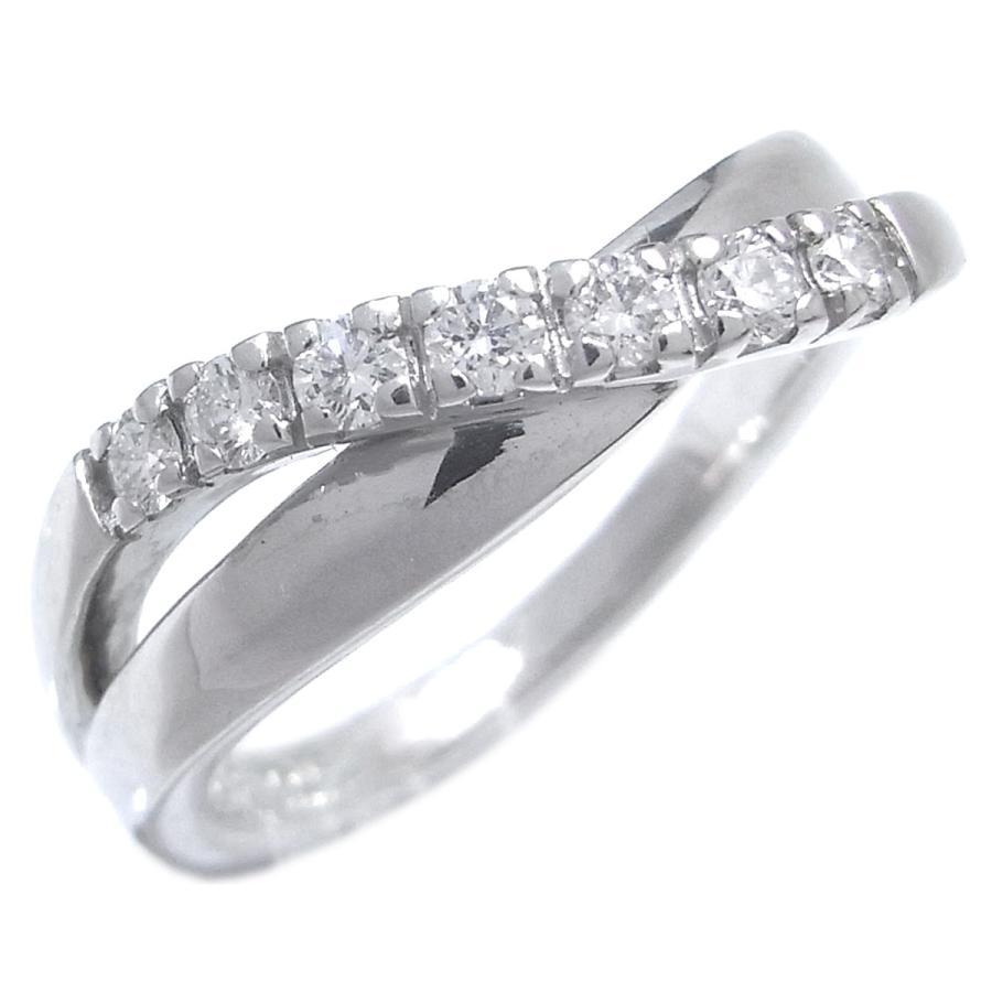 ホットセール 4℃ ヨンドシー 7P ダイヤ リング・指輪 Pt950プラチナ 8号 レディース  (銀座店)/DH49438, 人気定番 ea68f9b8