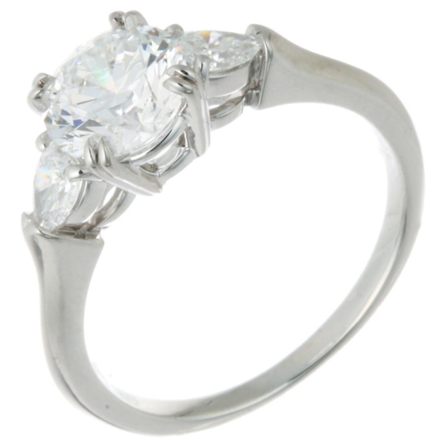 数量限定セール  HARRY WINSTON ハリーウィンストン ラウンド ペアシェイプ ダイヤモンド リング・指輪 Pt950プラチナ 11号 レディース  (銀座店)/DH51286, サカホギチョウ d1080e5e