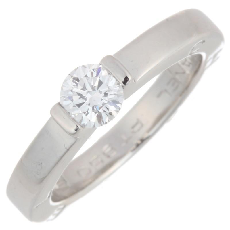 【爆買い!】 シャネル C シグネチャー ソリティア 0.37ct ダイヤモンド #48 J1776 リング・指輪 Pt950プラチナ CHANEL 8号 シルバー  (飯能本店)/DH55345, dyna jewelry d9661032