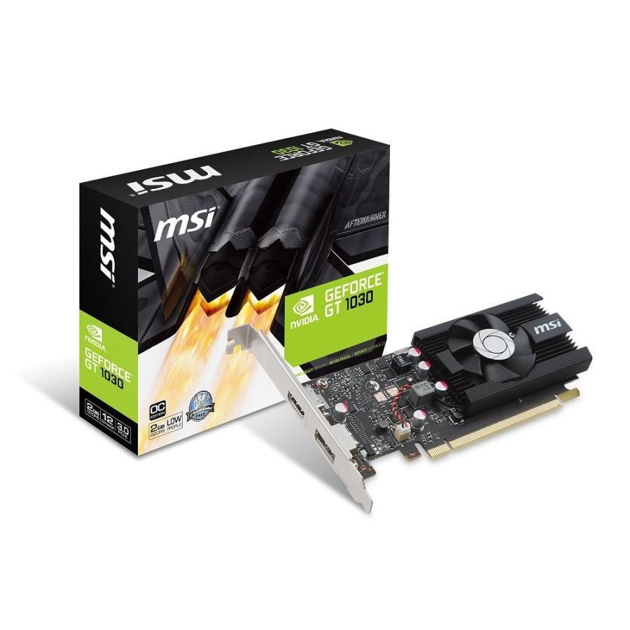 MSI GeForce GT 1030 2G LP OC グラフィックスボード VD6348|dshop-y