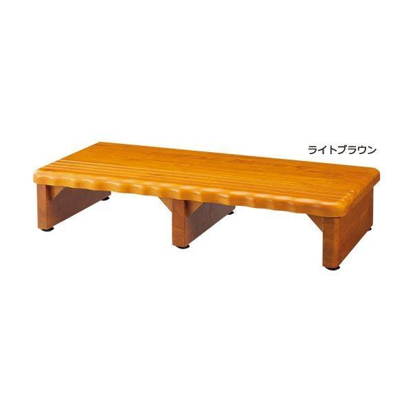 【ポイント2倍】天然木和風玄関台(踏み台) 〔3: 幅90cm〕 幅90cm〕 木製(天然木) ライトブラウン☆彡