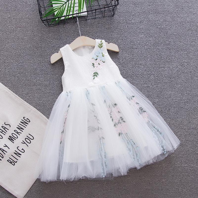 送料無料 シフォンドレス ホワイト 73CM 80CM 90CM キッズ 在庫一掃売り切りセール おトク ドレス おでかけ ワンピース ベビードレス 可愛くて目立ち 袖なし お誕生日 パーティー