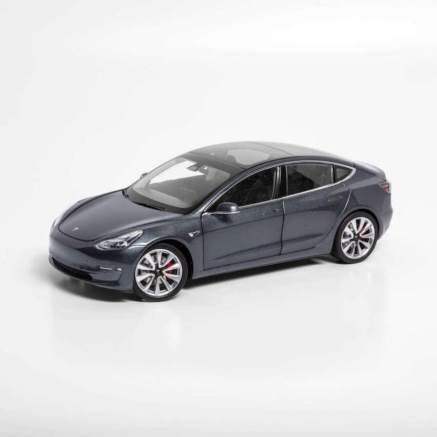 TESLA Diecast 1:18 Scale Model 3 テスラ純正品 ダイキャスト 1/18 モデル3 ミッドナイトシルバーメタリック モデルカー ミニカー
