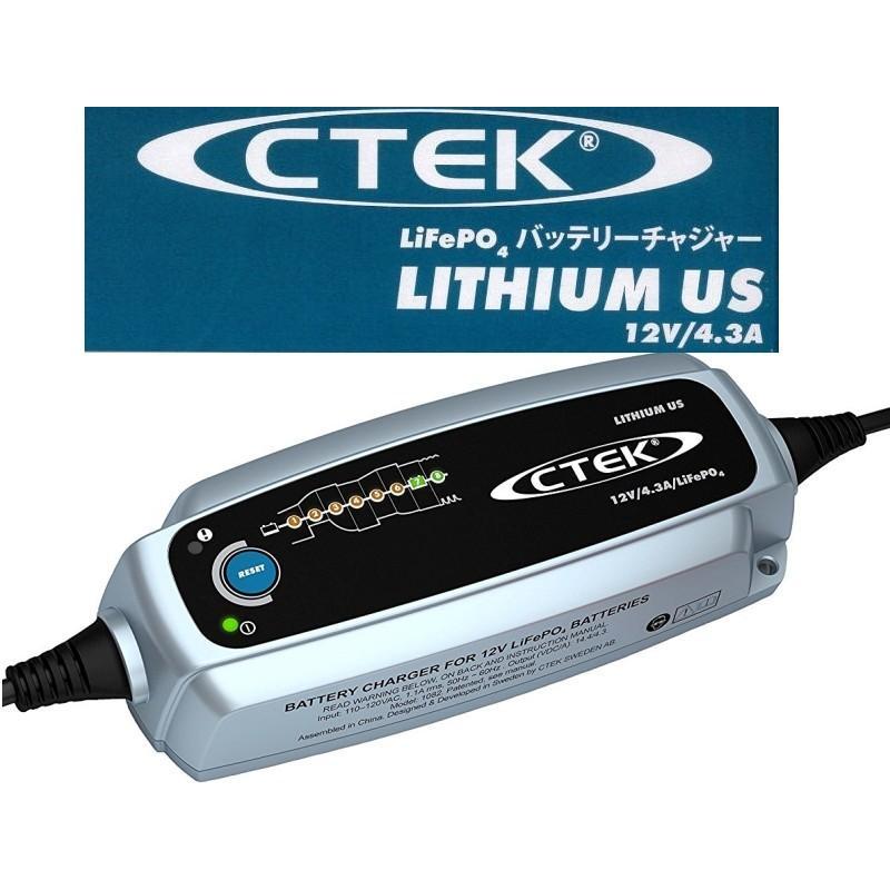 12V CTEK Battery Charger Lithium US
