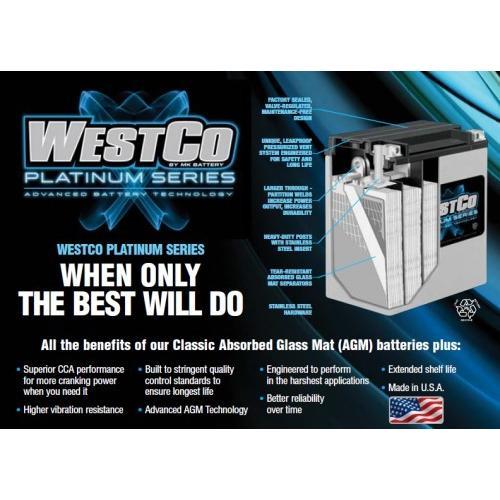 あすつく WestCo WCP15L AGMバッテリー SVR15L GARUDA正規輸入品 1年間保証|ducatism|02