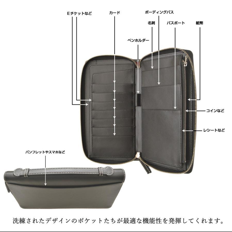 パスポートケース トラベルオーガナイザー 防犯 RFID 電磁波遮断シート おしゃれ メンズ レディース 本革  DUCT(ダクト) 097|duct-store|02
