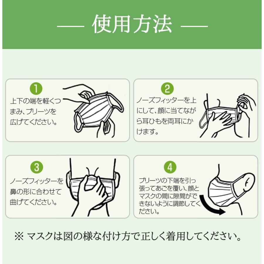マスク 付け方 不織布