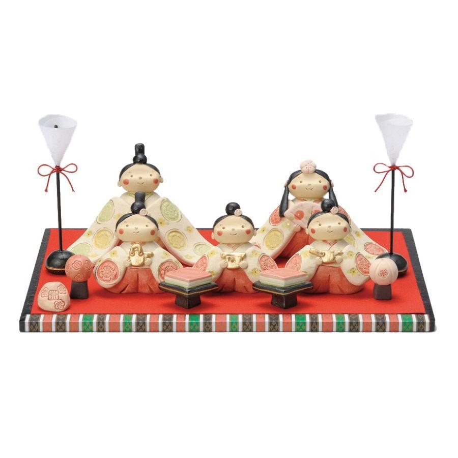 雛人形 コンパクト 陶器 小さい 可愛い ひな人形/ 奈の花窯作 親王飾り /ミニチュア 初節句 お雛様 おひな様 雛飾り