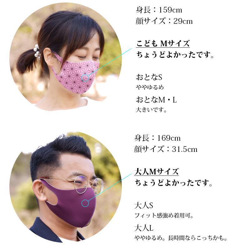 全集中 マスク 5枚入 洗える マスク 子供用 大人用 和柄 鬼滅の刃風/メール便無料 dxgirl 16