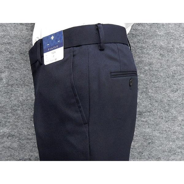 「裾上げ済」 通年 スリムノータックパンツ 3色展開中スラックス ビジネスパンツ 横ストレッチ 家庭洗濯可能 ビジネススラックス W73〜100cm OS1324|dxksm466|04