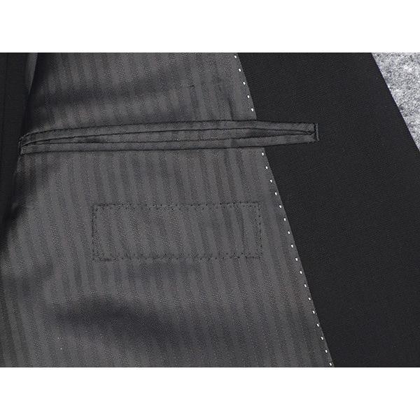 礼服 ダブル 夏物 深黒 ベーシックフォーマルスーツ 6釦1掛 1タック [A体][AB体][BB体] メーカー廃番予定品 PN2277 dxksm466 05